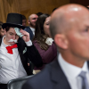 Monopoly Man Crashes Equifax Hearing to Protest Forced Arbitration