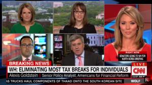 Alexis Goldstein appears on CNN with Brooke Baldwin appear on CNN (screen grab)