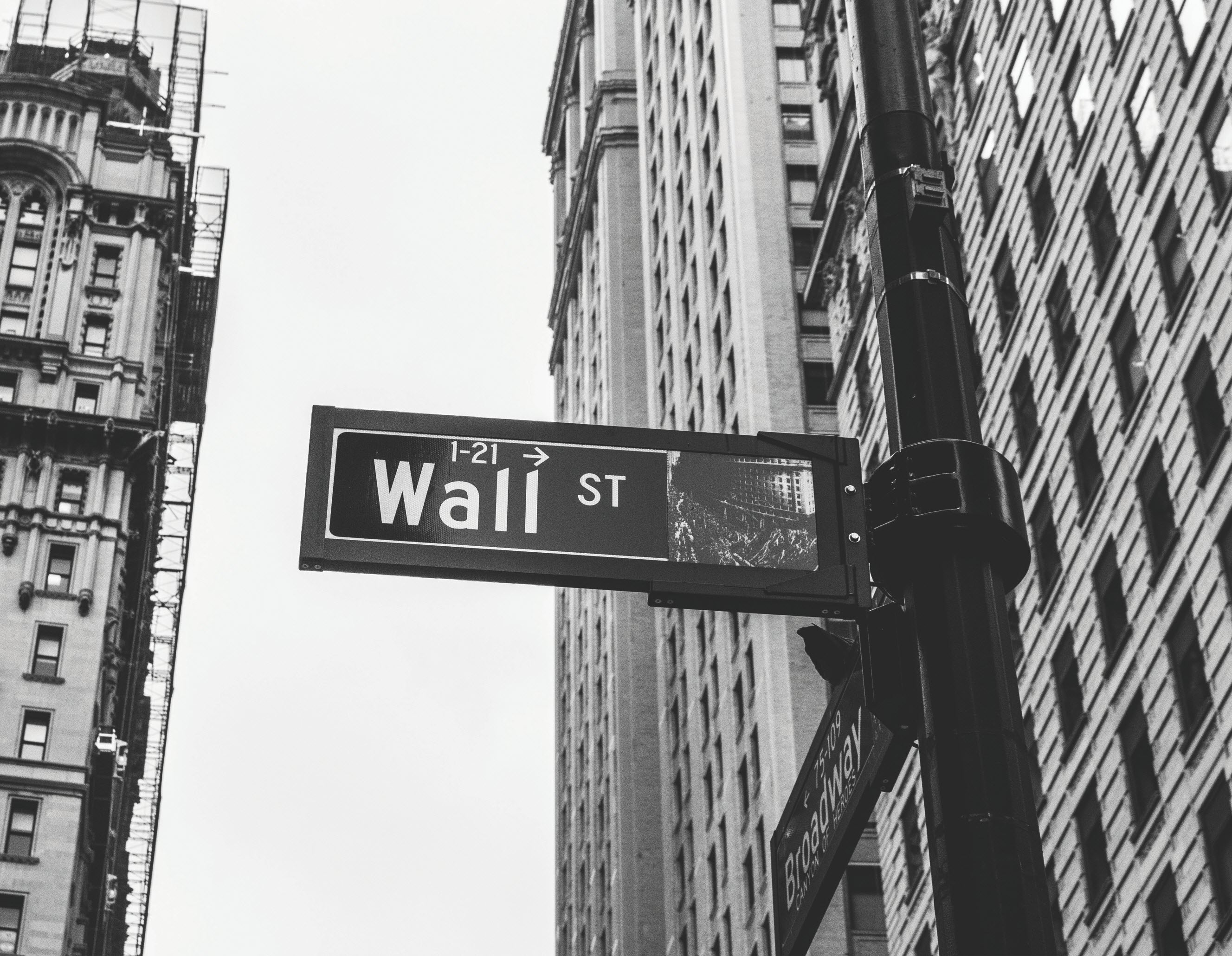 photo of Wall Street sign in NYC | Photo by Chris Li on Unsplash