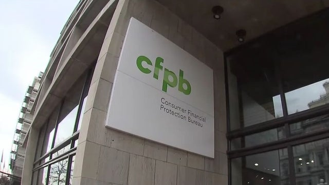 sign for the CFPB outside a building