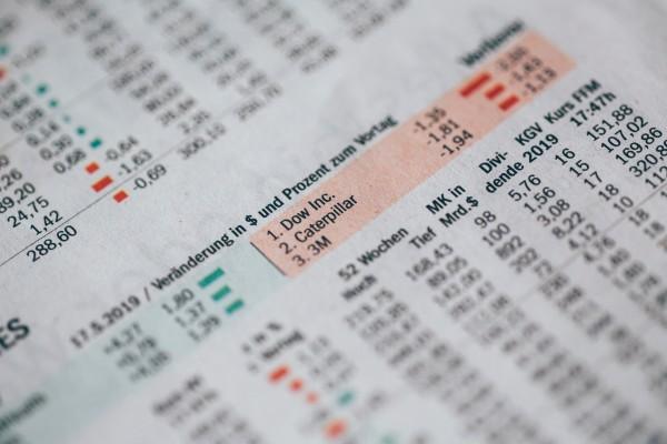 newspaper showing stocks going down - Photo by Markus Spiske on Unsplash